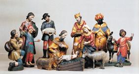 Božić, jaslice iz župne crkve u Belici, rad nepoznatog autora, Dijecezanski muzej, Zagreb
