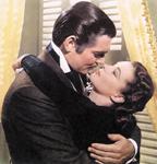 Clark GABLE i Vivian Leigh u prizoru iz filma Zameo ih vjetar, 1939., redatelj: Victor Fleming