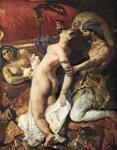 Eugène DELACROIX, Sardanapalova smrt (detalj), 1827, Louvre, Pariz