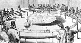 Léon FOUCAULT, Foucaultovo njihalo, prikaz pokusa iz 1851. u pariškom Panthéonu