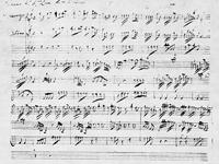 """Luka SORKOČEVIĆ, """"Simfonija u G-duru"""", faksimil izvornika, Arhiv samostana Male Braće, Dubrovnik"""