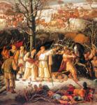 Matija GUBEC, detalj slike Krste Hegedušića Bitka kod Stubice 1573., 1949.