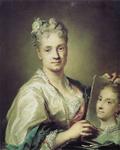 Rosalba CARRIERA, Autoportret, 1715., Uffizi, Firenca