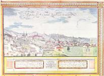ZAGREB, Veduta grada Zagreba sa zemljovida Zagrebačke biskupije, rad mjernika J. Szemana iz 1828., NSK, Zagreb